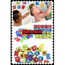 Munchkin 60 pieces foam bath learning toy pack