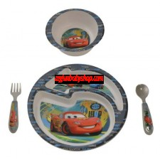 The First Years Feeding Set -Disney Pixar Cars 4 Piece Feeding Set