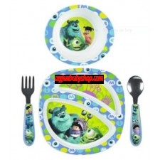 The First Years Feeding Set - Monsters Inc. Boy - 4 Pc