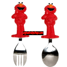Munchkin Sesame Street Toddler Fork and Spoon, Elmo