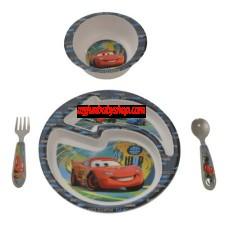 The First Years Feeding Set -Disney Pixar Cars 4 Piece Feeding Set
