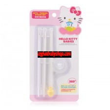 Hello Kitty 奶瓶自動吸管組