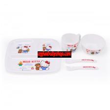 Hello Kitty 5件餐具禮盒套裝