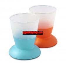 BabyBjörn 兒童飲水學習杯 (2件裝) (藍/橙)