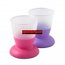 BabyBjörn 兒童飲水學習杯 (2件裝) (粉/紫)
