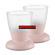 BabyBjörn 兒童飲水學習杯 (2件裝) (粉紅)