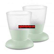 BabyBjörn 兒童飲水學習杯 (2件裝) (淺綠)