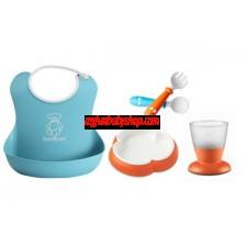 BabyBjörn Baby Feeding Gift Set 嬰兒餵食飲用套裝 (橙/藍)