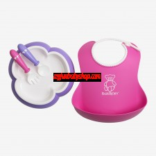 BabyBjörn Baby Feeding Gift Set 嬰兒餵食套裝 (粉/紫)