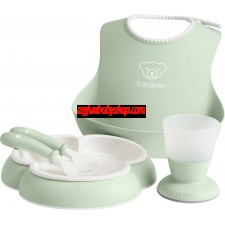 BabyBjörn Baby Feeding Gift Set 嬰兒用餐套裝 (淺綠)